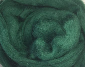 Merino Wool Roving - Evergreen - 1 oz.