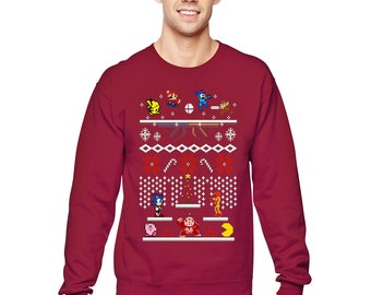 a6ab163d Christmas Ugly Sweater (Mario Pokemon Sonic Pacman)