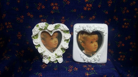 Vintage Mini Hearts Frames Vintage Frames Party Favors White Etsy