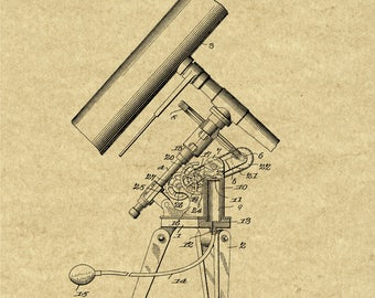Telescope blueprint | Etsy