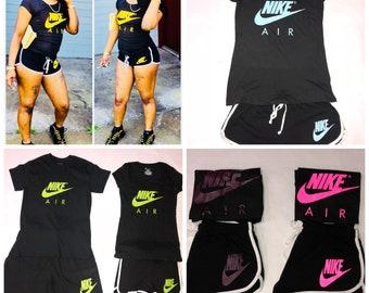 Nike inspired dolphin short set