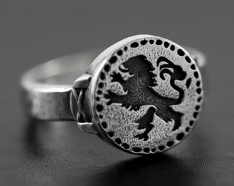 United Dark Souls 3 Lion Eagle Ring Fashion Jewelry