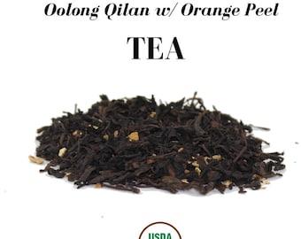 Organic Oolong Qilan with Organic Peel Loose Herbal Tea (USDA Organic & Fair Trade)
