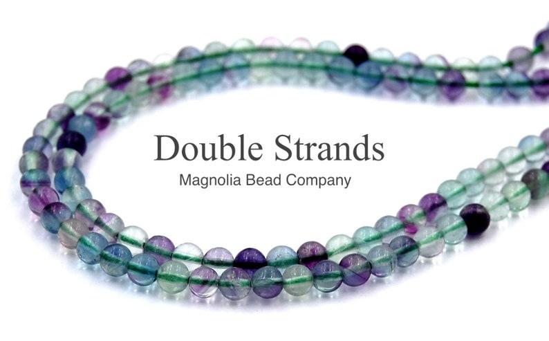 Two 15 strands Fluorite Rainbow Gemstone Beads Round 4mm AA Grade