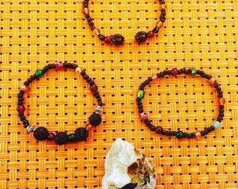 Glass Bead Aromatherapy Bracelet Set