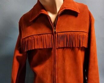 Vintage Suede Fringe Jacket, Western Fringed Jacket