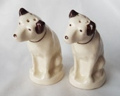 RCA Victor Nipper Dog Salt and Pepper Set Brown Collars Radio Corp of America