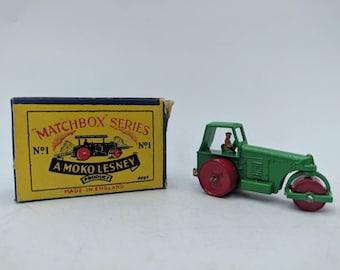 Lesney Road Roller - Matchbox Series No. 1 - Moko Lesney England -  With Original Box