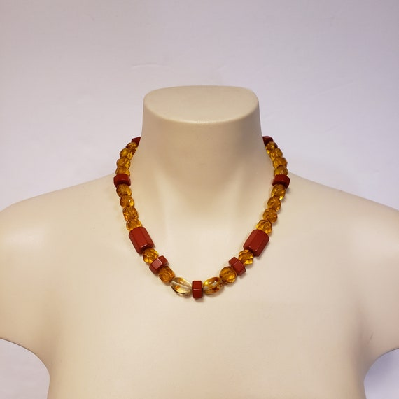 Vintage Bakelite and Celluloid Necklace
