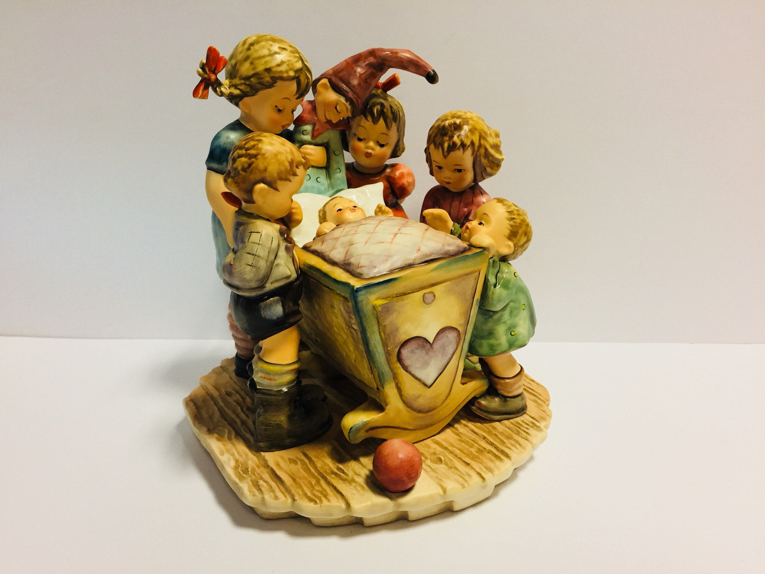 Hummel Rock-A Bye-Figurine, LARGE Hummel Figurine, Hummel Century Collection, 7 1/2 Inches Tall, TMK 7, Hummel Figure 574