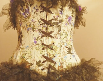 Fairy/Faun Outfit Corset+Skirt Size M