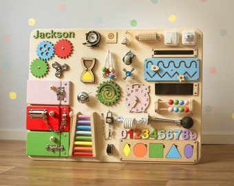 SALE!!! Busy board for Toddler, Activity board, Best gift for kids, Montessori toys, Christmas gift, Busy board for 1 year old, 2 year old