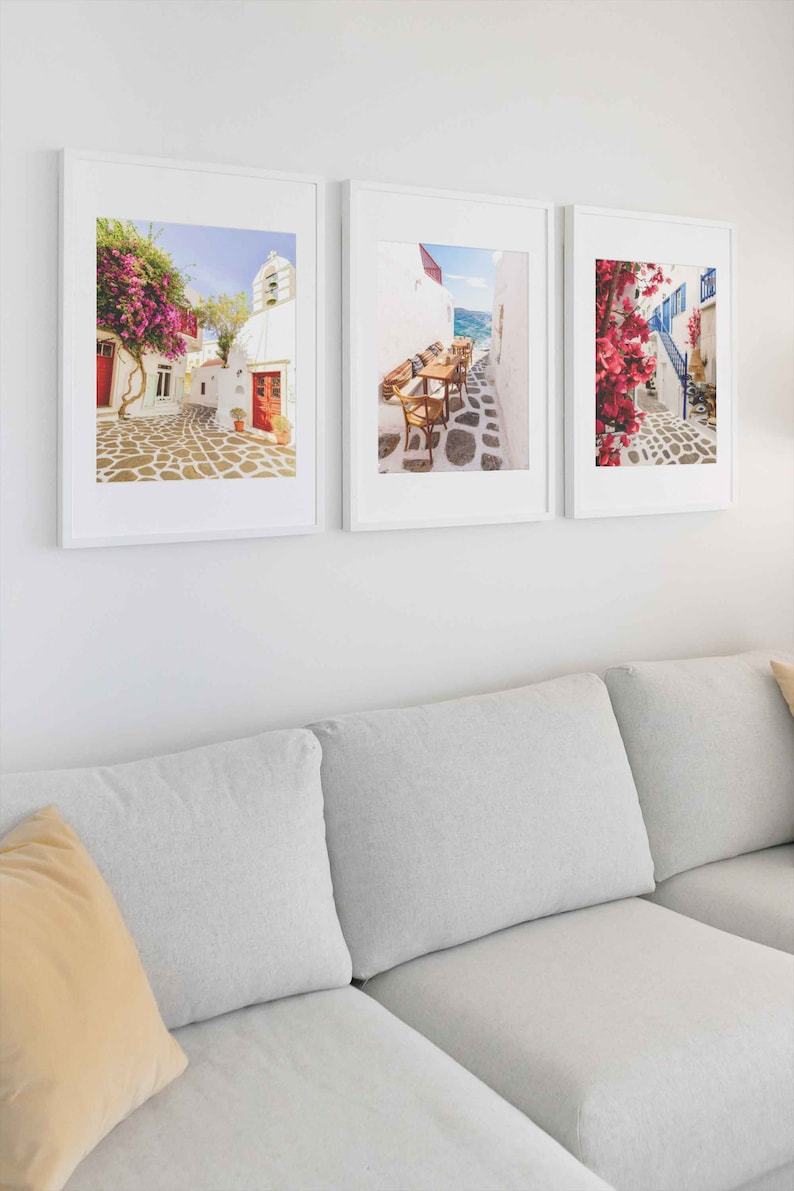 PRINTABLE  Mykonos Bundle 3x Digital Print Instant Download Three For The Price Of Two