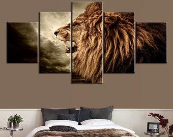 Lion canvas | Etsy