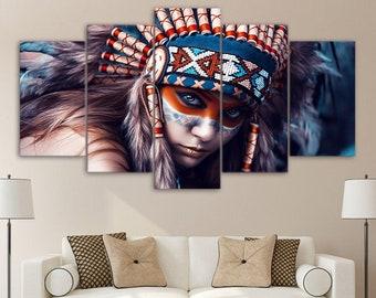 1a0ff5a0998 Native Indian Canvas Art