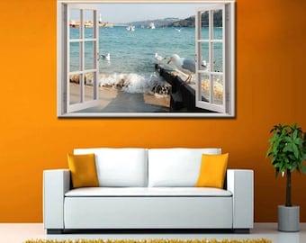 Art Picture Poster Photo Print 4BCH Beach Scene