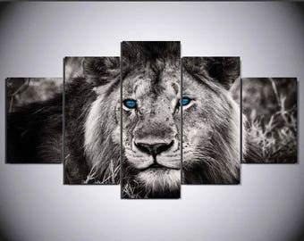 Lion Wall Art Etsy