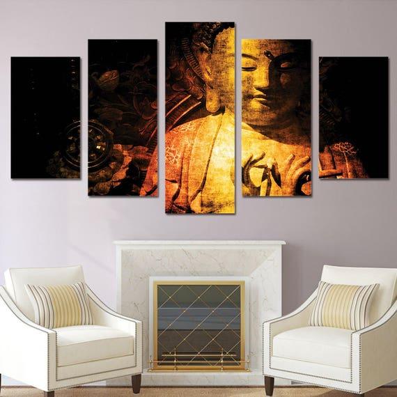 Buddha Wall Art Buddha Canvas Art Buddha Wall Decor Large   Etsy