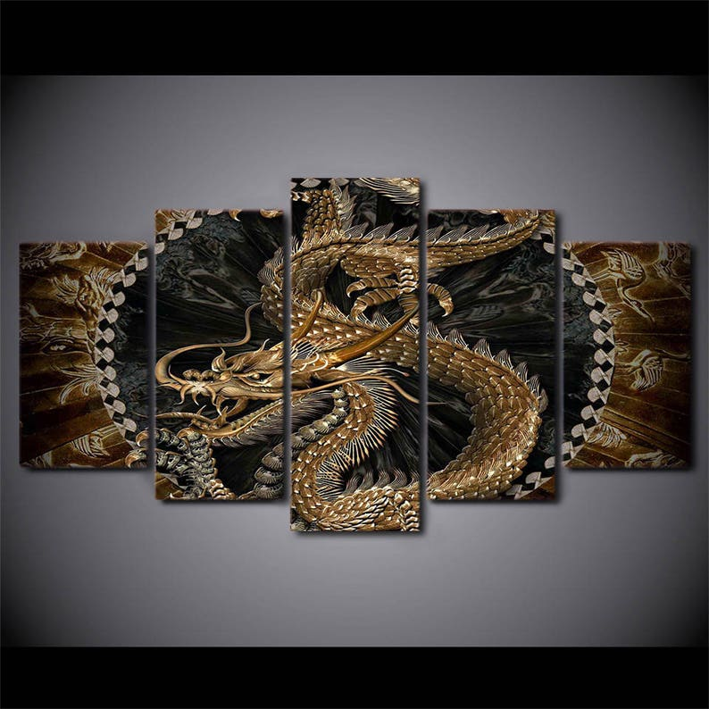 16. Dragon 5 Piece Canvas Print