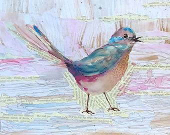 Wee Collage Bird