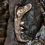 Moonlight Feather Bronze Cast Bobcat Jaw