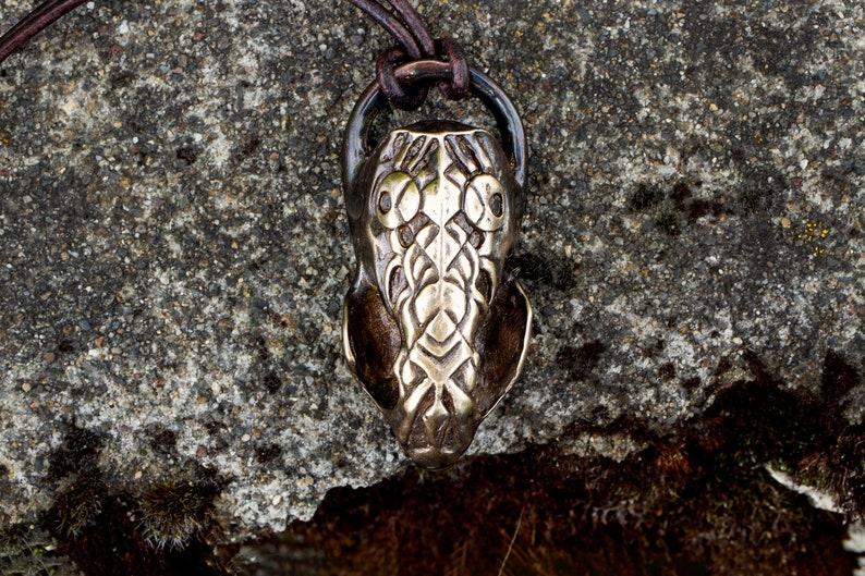 Bronze Cast Carved Mink Skull image 0