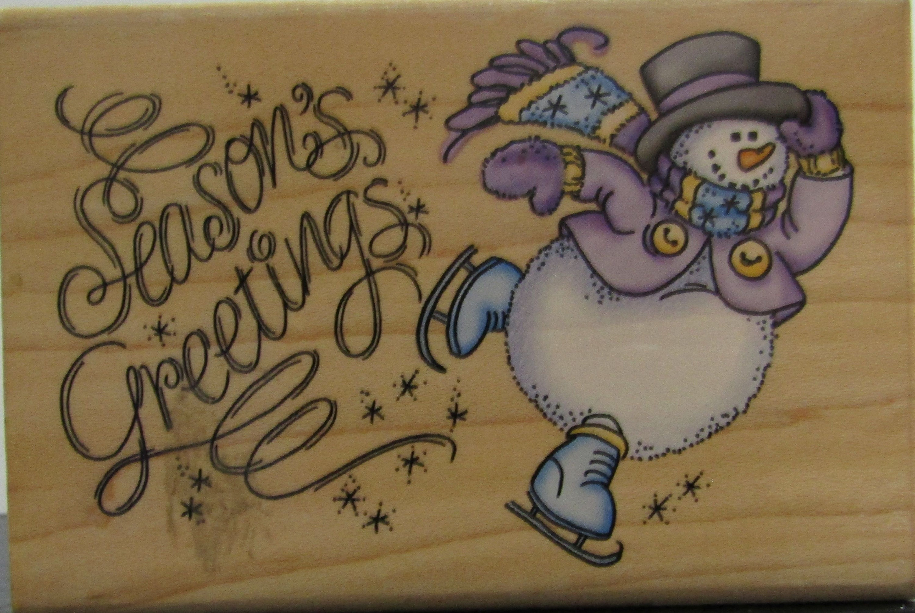GREETINGS 4 Stampendous rubber stamp