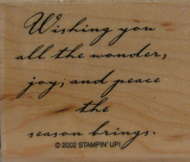 WISHING WONDER, Wood Mounted Rubber Stamps by Stampin'Up