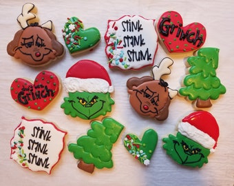 Grinch Cookies Etsy