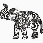 Tribal elephant SVG file instant download