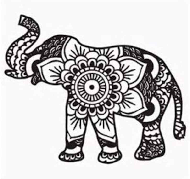 Tribal elephant SVG file instant download image 0