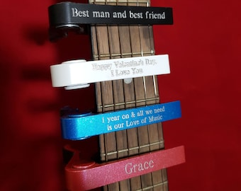 PERSONALISED Guitar Capo - Multiple Colours - Birthday, Anniversary, Musician - A unique gift for the avid guitar player!