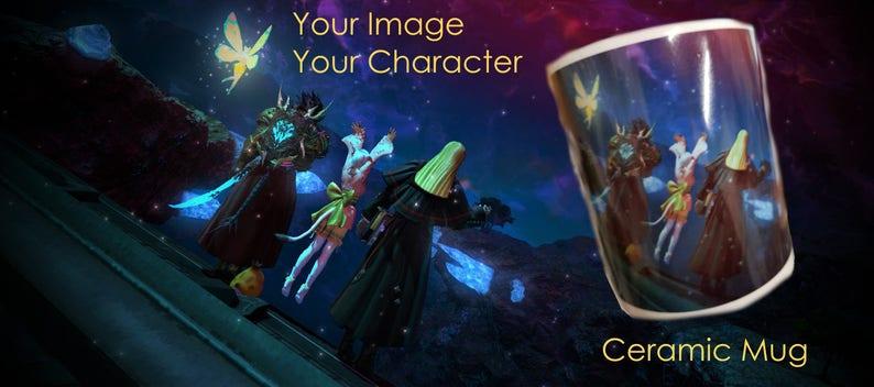Your FFXIV Character / Screenshot on a Mug! Final Fantasy XIV 14  Any image  printed on a Ceramic Mug