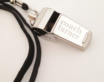 Personalised Engraved Stainless Steel Whistle FREE Gift Box& FREE Engraving. Great for sports coaches and teachers!
