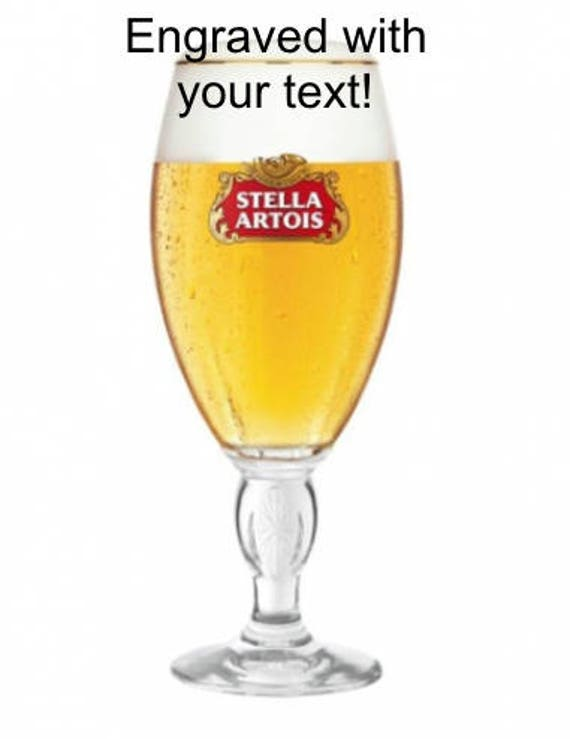 Enter Your Own Custom Text Personalised Engraved Branded Half Pint Carlsberg Beer Glass with Free Gift Box