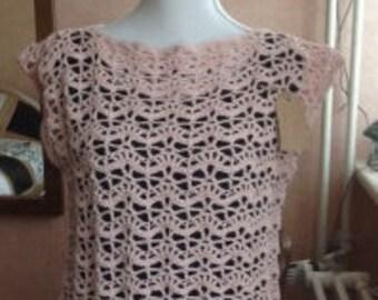 Crochet cotton tank