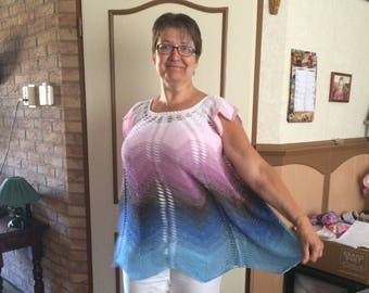Crochet tunic, 100% handmade
