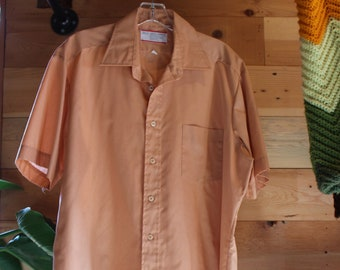 cec30809d8d Washed Out Peach Sears Perma-Prest Button-Down Shirt