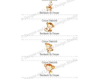 Crochet Dishcloth Labels Packaging Tags Crochet Wraps PDF