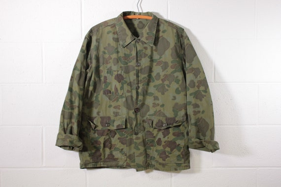 Camouflage Button Front Overshirt