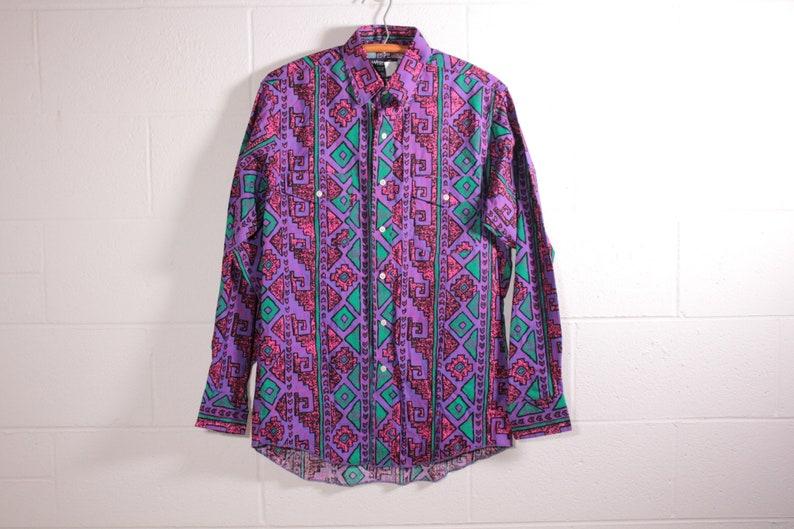 Wrangler button down Aztec print shirt