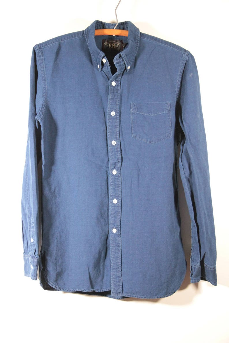 Double RL button front long sleeve shirt