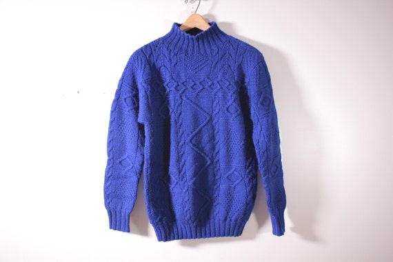 Ralph Lauren Hand Knit Wool Sweater Ladies Medium Etsy