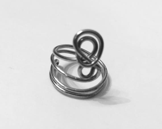 Size 6 | Wire Wrapped Ring | Overlapping | Spiral | size 6 | Handmade | Boho Ring