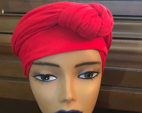 Pre-tied Headwrap; Turban; Infinity Neck Scarf; Wraparound Hairband; headtie; Gift for her; Premade Headcovering; All-season Accessories