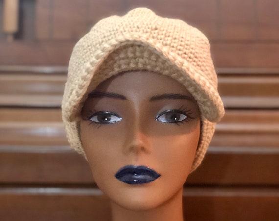 Crochet Baseball Hat, Brimmed Cap, Face cap, Handmade Wool hat, Newsboys hat, Stylish, Gift for all, All Season cap, Fashionable Beanie