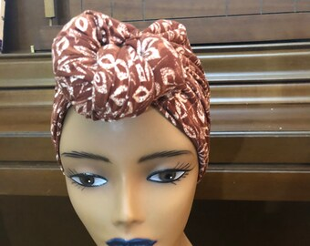 Pre-tied Headwrap; Knotted; Turban; Slip-on Scarf; Knotted Head-wrap ; Gift for her; Premade Headcovering; Seamless; Hair Accessories