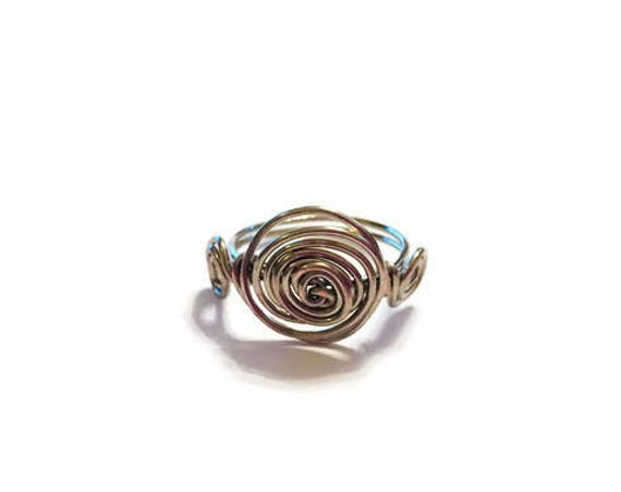 Cinnamon Wire-Wrapped Ring | Size 7 | wrapping | Ring | Handmade | Boho Ring | Custom Ring