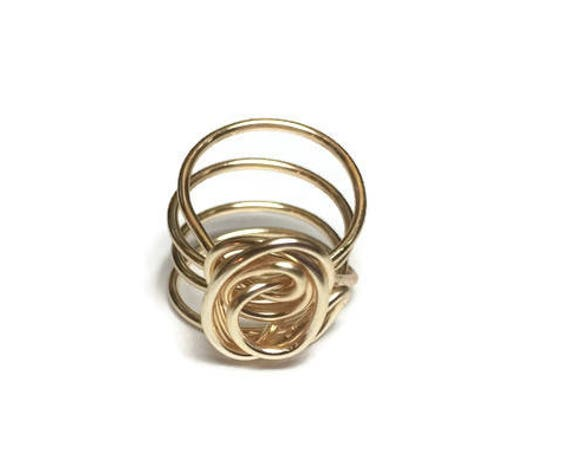 Rose Swirl Ring, Wire Wrapped Ring, Various Sizes Ring, Jewellery, Ring for women, 6 1/2 Ring, Handmade Jewelry, Boho Rings, Rings for her