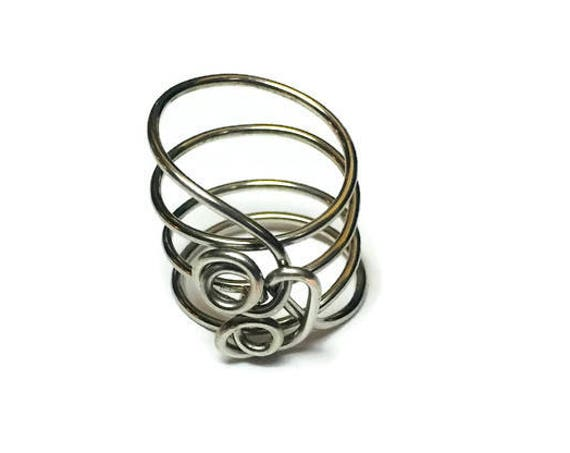 Musical Curl Ring, Wire Wrapped Ring, Ring Jewellery, Ring for women,size 7 1/2 Ring, Handmade Jewelry, Boho Rings, Rings for her, Gifts